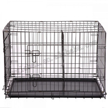 42DPet Kennel Cat Dog Folding Crate Wire Metal Cage W/Divider