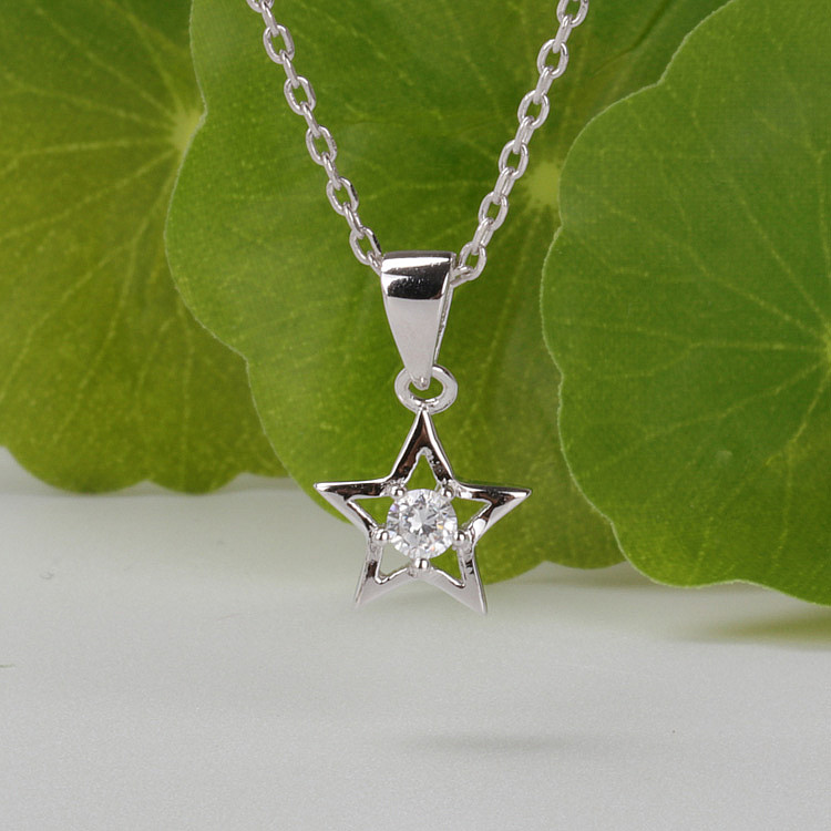 Cheap wholesale fashion jewelry, 925 sterling silver zircon pendant
