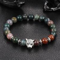 2016 summer new women men natural stone 6mm beads bangle bracelet