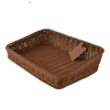 Rectangle woven rattan supermarket fruit vegetable display basket