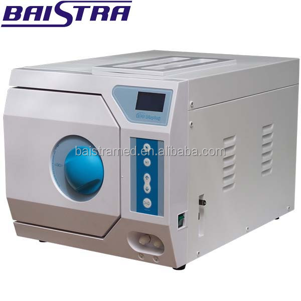 European standard EN13060 class B table top autoclave with pre-programmed sterilization cycles
