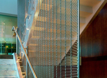 Decorative Architectural Mesh By Stainless Steel As Interior Wire Mesh  Handrail