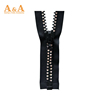 High Quality Decorative diamond Zippers with flower shaped Pulls
