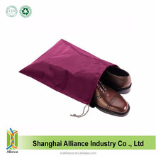 Rose Red Wholesale Cheap Price Promotional Nylon Drawstring Bag For Shoes