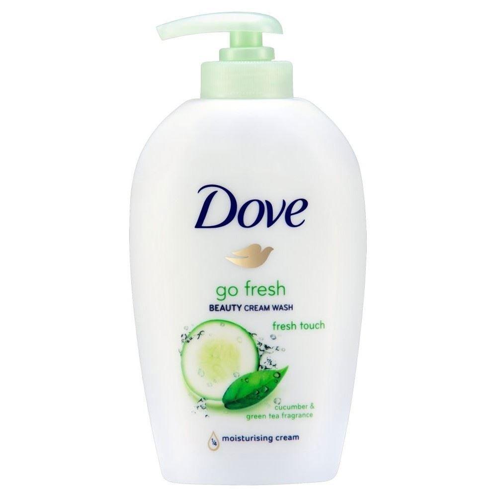 Dove Go Fresh Beauty Cream Wash - Fresh Touch Cucumber & Green Tea (250ml) - Pack of 6