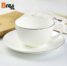 Bone china <span class=keywords><strong>Engels</strong></span> afternoon tea koffie kop en schotel met gouden rand handgemaakte high-end gift box set