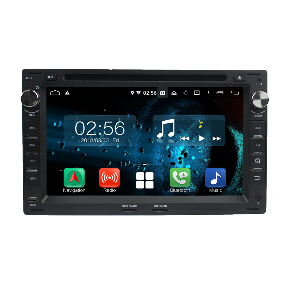 1024*600 resolution Android 7.1 2+32G octa core dual-screen interactive mobile Internet car dvd for Passat B5