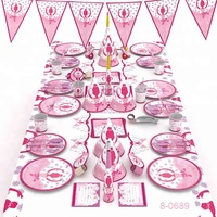 16sets Ballerina Theme Party Supplies Pack Pink Baby Ballerina Party Decoration Ballerina Party