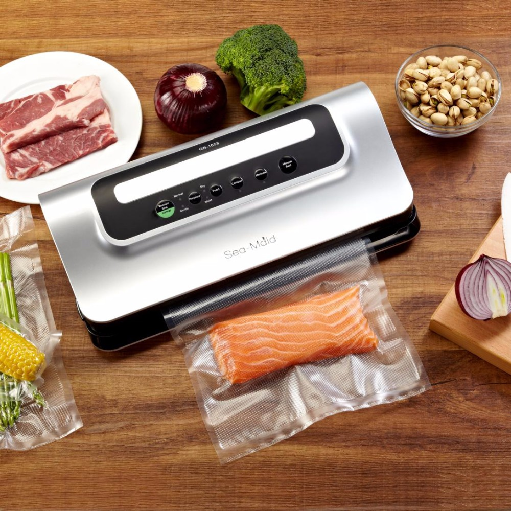 Sea-maid Household kitchen food vacuum packaging machine vacuum sealer with bag roll