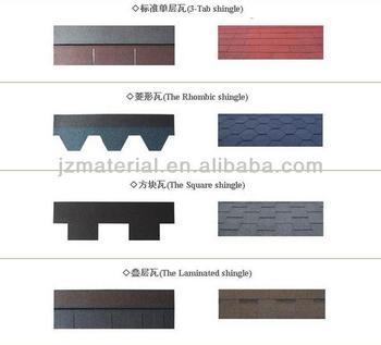 Colorful Fiberglass Asphalt Shingle Asphalt Roof Shingle