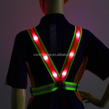 High Visible Elastic Exercise led reflective flashing safety sporting running  belt vest 1c07ee758