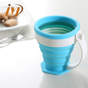 180ml portable silicone foldable drinking cup