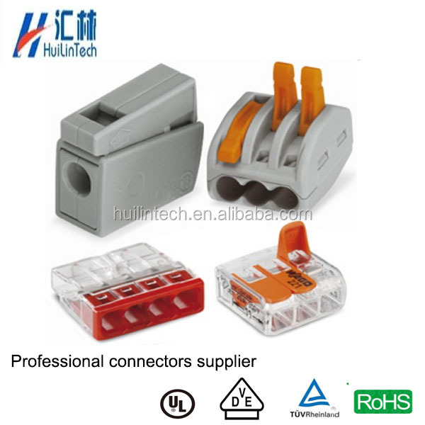 Screwless connection compact splicing WAGO push wire connector