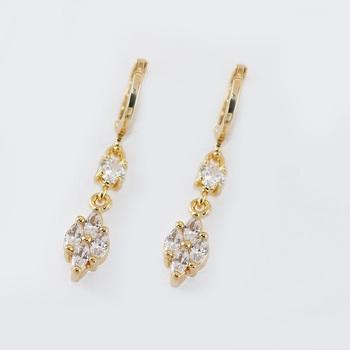 22 Carat Gold Big Beautiful Drop Animal Shaped Earrings Buy Animal