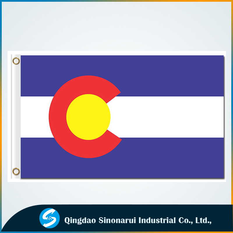3x5ft Colorado state flags America state flying banners