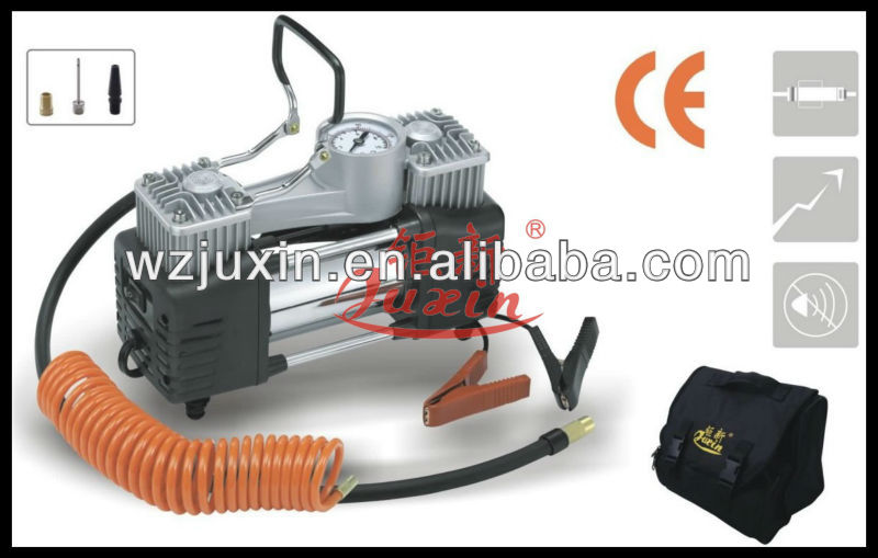12V portable air compressor tire inflator