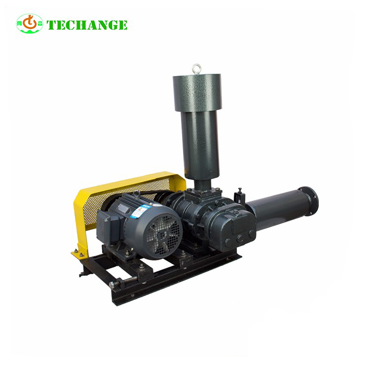 Service in place sewage treatment plant The centrifugal air blower