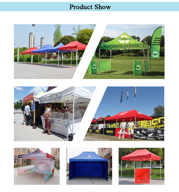 Portable shelters with sides Advertising 10x20ft Tent Gazebo Canopy With Printing