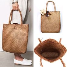 New Fashion Womens Summer Large Tote Bag Shoulder Bag Handbag Paper Straw Beach Bag
