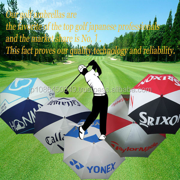 High quality lightweight golf umbrella parasol with your own logo printed