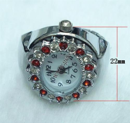 Hot selling jewelry women rings unique watch shape crystal wedding rings 52619