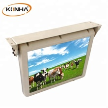 Automatic filp down 22 inch lcd motorized car semi-enclosed monitor/display