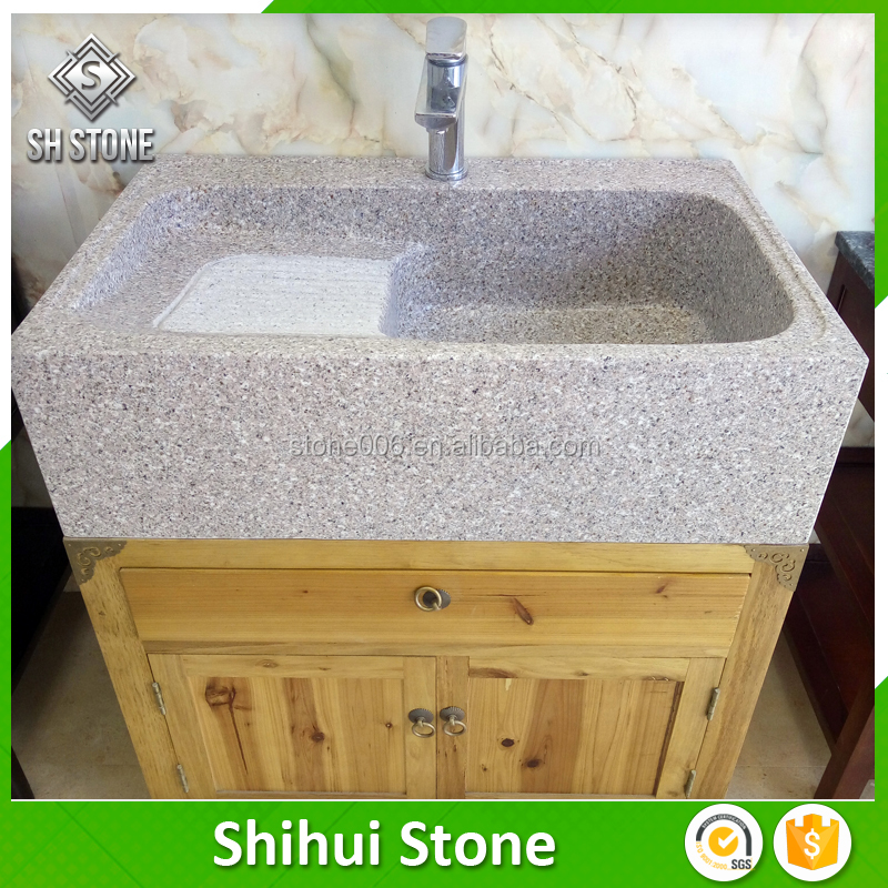 SHS Garden Natural Stone Granite Hand Carved Water Basin With Good After-sale Service
