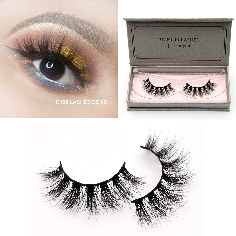 ef85f3a23e8 Get Quotations · Visofree Lashes 3D Mink Eyelashes Long Lasting Mink Lashes  Natural Dramatic Volume Eyelashes Extension False Eyelashes