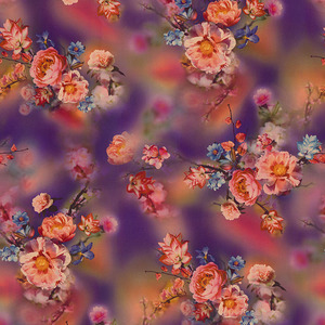 Custom digital print floral 100% cotton twill fabric price per meter for clothes