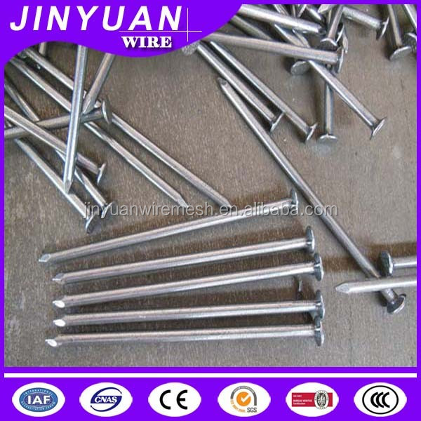 Q195/Q235 material bright polished common nail /electro galvanized with thick zinc coating factory low price