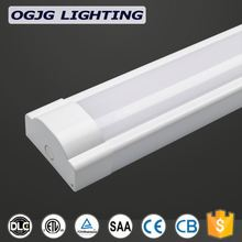 ETL DLC approval aluminum 2ft 4ft 5ft 8ft integrated led tube light maintenance shop hanging dustproof ceiling lighting