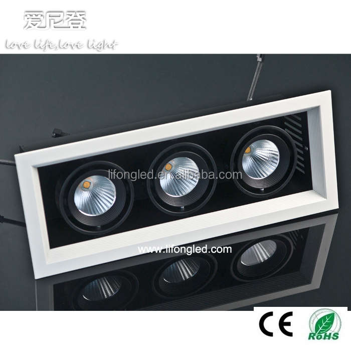 CITIZEN 3*18W white three head cob led grill light high cri 97 led ceiling lamp
