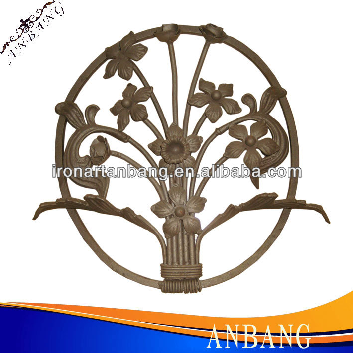 AB China decorative wrought iron railing parts,wrought iron scroll manufacturer