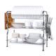 Orange Kitchen Bowl Plate Organizer Stainless Dish Drying Rack