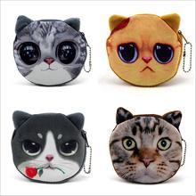 free shipping fashion animal coin purses cat change purse cute coin purse bag women wallets
