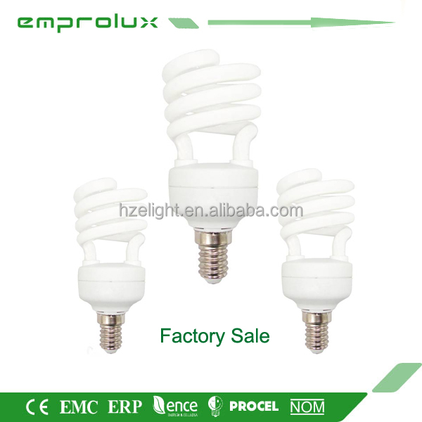 T2 13w Half Spiral cfl 12v dc energy saving lamp lights
