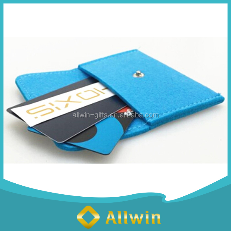 Felt magnetic cell phone credit card holder