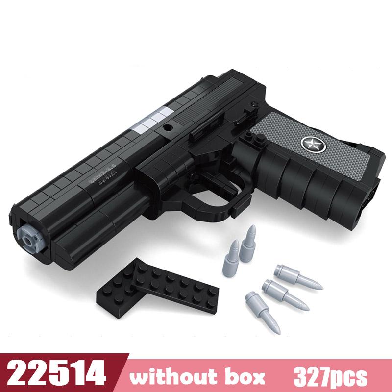 Новый пистолет SWAT с эмиссионным пистолетом, техника оружия, модель сборки, сделай сам, лего, кирпич, набор, оружие, мальчик, игрушка, строител...(Китай)