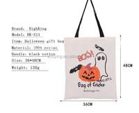 Customized Canvas Pumpkin Pattern halloween Gift Hand bag