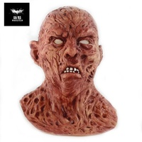 A Nightmare On Elm Street Freddy Krueger Costume Deluxe Overhead Scary Horror Mask for Halloween Party Cosplay