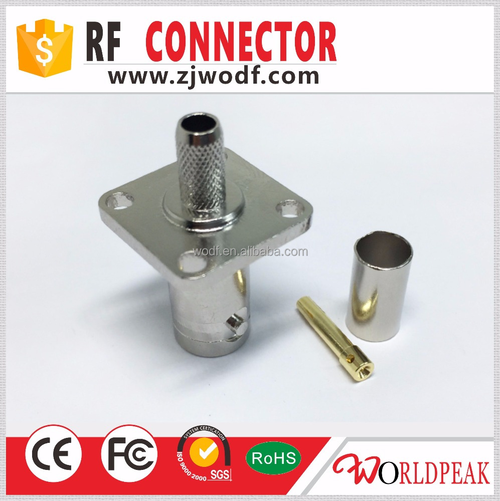 Online shopping rf connector BNC jack female flange type rg179 rg316 rg59 cable connector