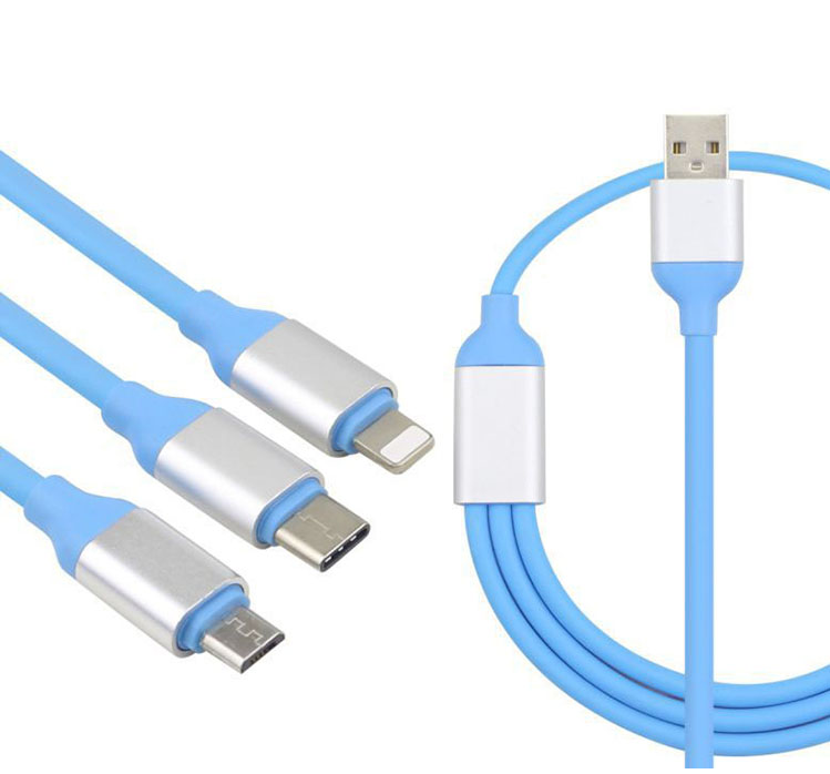 Alibaba.com / 3 in 1 2.4A Fast Charging cable for android i7/8 type c