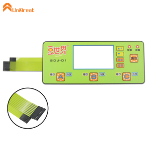 For soy milk machine use embedded metal snap dome membrane switch keypad custom touch panel tactile keyboard with LED indicator