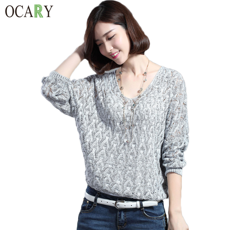 Crochet Tops Warm Blusas Tricotado Hollow Out Knitted Pullovers Autumn Winter Women Knitwear Tops Sweaters