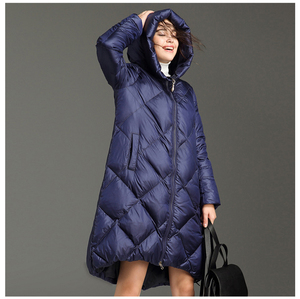 Womens winter coats black dark blue green,white jacket casual hooded 2018 hot new style