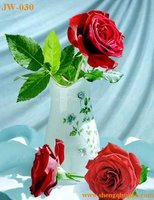 JW030 Rose Painting with 3D Picture for Bookmark