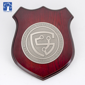 Custom wooden shield plaque