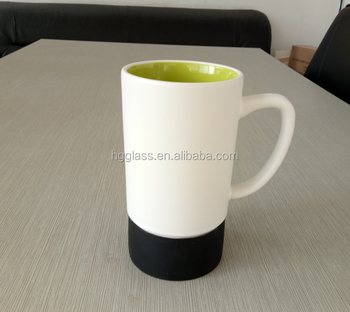 Ceramic Mug With Silicone Base 17oz Coffee