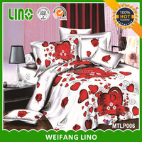 3d printed 100% polyester adult 3d cartoon bedsheet/bedsheet printed cartoon