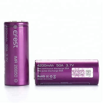 Efest 4200mah 50A 26650 China Factory 4200mah 3.7V 26650 Batteries Battery China Factory Lithium 26650